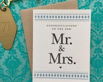 Congrats to the Mr. & Mrs. - letterpress