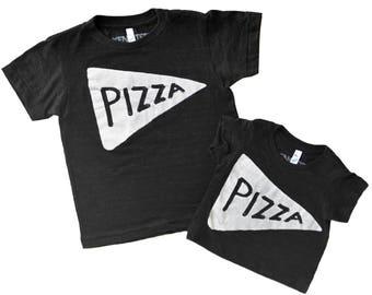 NEW Kids Pizza Shirt Black, toddler christmas gift, girls christmas shirt, baby gift, kids graphic tee tmnt, funny tshirt, son daughter gift
