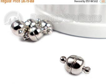 30% Retirement Closeout - Silver Tone/Dark Silver, 13mm, Exceptionally Strong, 5 Clasps, Necklace Clasp, Bracelet Clasp, 5CL73-0001
