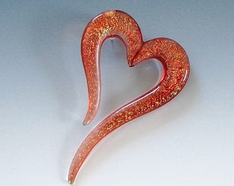 Lampwork OPEN HEART Pendant