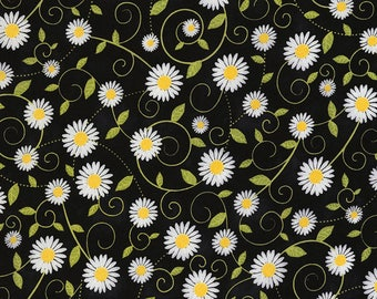 Beeloved/You Are My Sunshine-Daisy Vines-TIMELESS TREASURES- Cotton Fabric- Quilt- Bee -Apparel-WindyRobinCotton- *Sold by half yard.