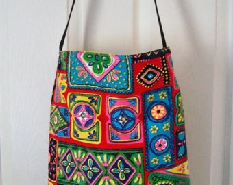 Check out this great Multi Colors Tote Bag with pocket on the inside. Go to the Beach, Mall, Flea Market, Spa!   MADE IN AMERICA