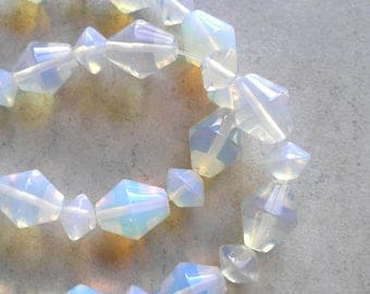 Opalite Beads Full Strand Bicone Shape For Beaded Jewelry Making