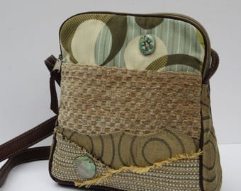 SHOULDER BAG  Fabric and Leather Moonlight Beach