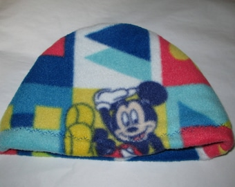 Kids Child Mickey Mouse Anti Pill Fleece Hat, Winter Hat, Cancer, Chemo Hat, Alopecia