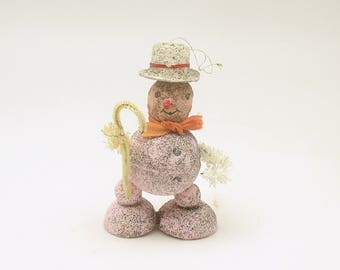 Vintage Christmas Ornament Christmas Decoration Pink Snowman