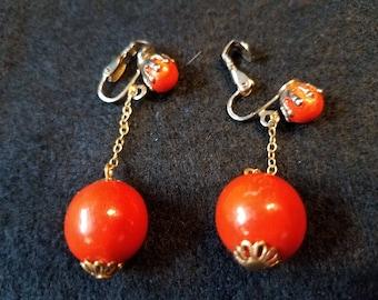 Vintage Ball Dangle Earrings
