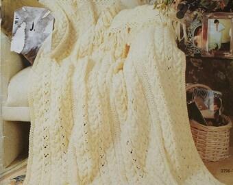 A Potpourri Of Afghans Crochet Knit Pattern Book Bernat