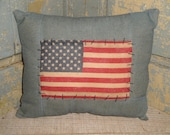 SMALL Flag Pillow | Pillow  With American Flag | Americana Pillow | American Flag Pillow | Primitive Flag Pillow | Patriotic Pillow