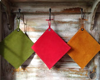 Suede Oven Mitt Potholder Available In 24 Colors