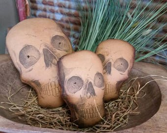Primitive Halloween Skull bowl fillers.  WOW