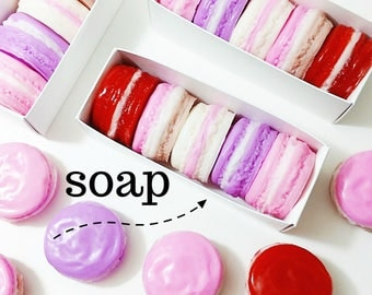 Valentine Beauty Gift Set. Gift for Her. Valentines Day Gift. Valentine Gift. Boxed Macaron Soap Gift Set. Spa Gift Set. Bath Gift Set