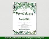 Green Floral Bridal Showe...