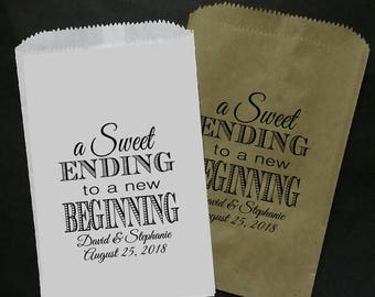 a Sweet Ending to a new Beginning 5x7 FAVOR BAG