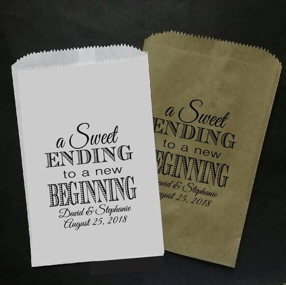 a Sweet Ending to a new Beginning 5x7 FAVOR BAG