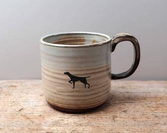 Rustic Dog Mug
