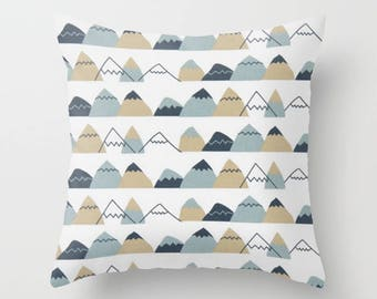 Mountain Pillow cover Hiker's Pillow Cover Decorative Pillow Cover RV Pillow Hiking Pillow Color Choices