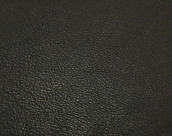 Dark CHOCOLATE BROWN cow hide Leather Piece #6 9x5""