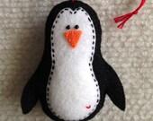 Reserved custom listing for Sandra ONLY 6 Penguin Christmas ornaments