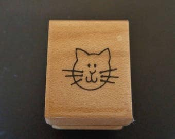 Stampendous Cat Stamp - Used - Vintage