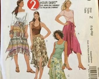 McCalls 5140 2 Hour Skirt Pattern. Size L-XL, uncut