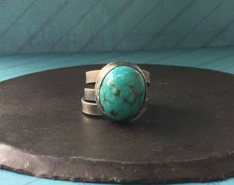 courage. turquoise wrap ring