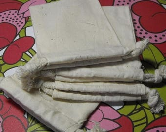 STOREWIDE SALE 10 Pack Drawstring 4X6 Inch Natural Muslin Bags great for Gift Wrapping, Reusable Tea bags, or Sachets