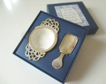 Tea Strainer & Caddy Spoon Set  Silverplate Vintage Whittard of Chelsea Boxed English Afternoon Tea - EnglishPreserves