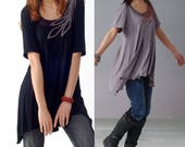 SALE - Loneliness is singing - hand embroidery top (Y1208)