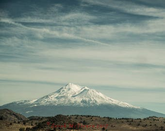 Mt Shasta Landscape California Art Print Art Photography by Sarah McTernen