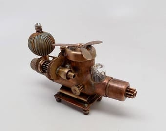 "Steampunk ""GALACTIC GUNSHIP"" flash drive. Steampunk usb flash drive 32GB"