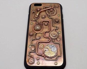 Steampunk iPhone 6 PLUS case. Mobile phone case.  iPhone 6 PLUS  case. iPhone case.