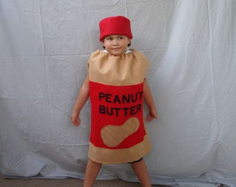 Baby Costume Peanut Butter Costume Halloween Costume Toddler Costume Infant Costume Child Costume Baby Boy Costume Peanut Butter and Jelly