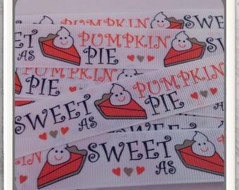 """Sweet as Pumpkin Pie MTMG 20 yds 7/8"""" on white TWRH"""