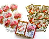 Gorgeous Vintage D.M. Ferry & Co., 8 Floral Cards