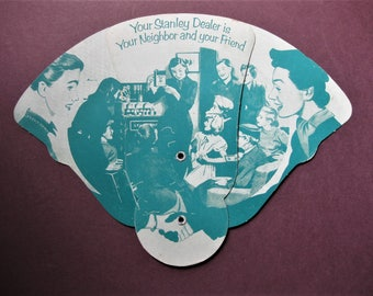 Vintage Stanley Giveaway, Folding Fan, Mid 50s, Advertising