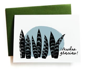 Muchas Gracias - Spanish Greeting Card