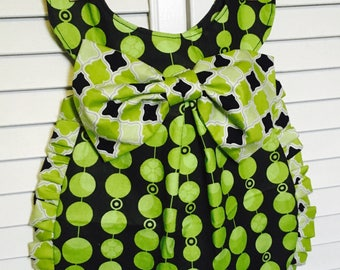 Girls Fancy Bib Dress - Girls Bib that can be worn as a dress - Perfect for Pictures, Birthday, Baby Shower Gifts fits 6-24 months