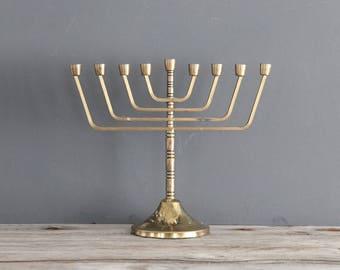 Solid Brass Menorah