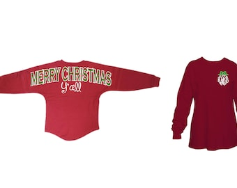 Merry Christmas Yall Spirit Sorority Game Day Jersey