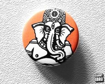 Ganesh button pin