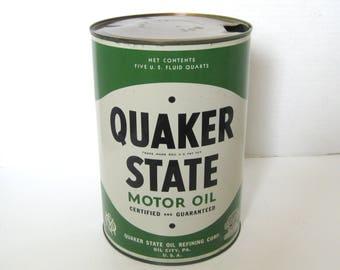 Quaker State Five Quart Motor Oil Can