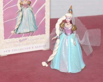 Barbie Rapunzwl Hallmark Keepsake Ornament -1995