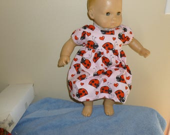 Bitty Baby Ladybug  Dress with Matching Panties