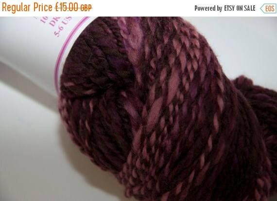 Christmas In July Merino Handspun Yarn in Shades of Burgundy and Pink 100g/234yds