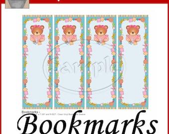 Sewing Bear Bookmarks Printable