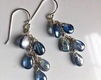 QUICKIE SALE 15% OFF, Kyanite Cascade Shimmer Earrings