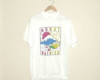 1990s t shirt / vintage 90s tshirt / extra large xl / travel / Mount Ranier T-Shirt