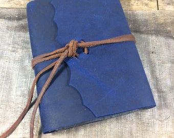 Navy blue leather address book / address tabs