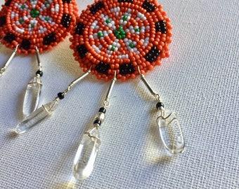 Native American Beaded Stud Earrings. Sale!